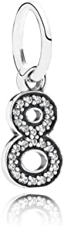 Pandora 791346cz Number 8 Charm by Unknown