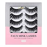 LASHVIEW False Eyelashes,Mink Fake Eyelashes,Comfortable and Soft,Handmade Lashes Wispies,3D Natural Layered Effect,Environmental Silk Lashes,Reusable Natural Look False Eyelashes for Makeup