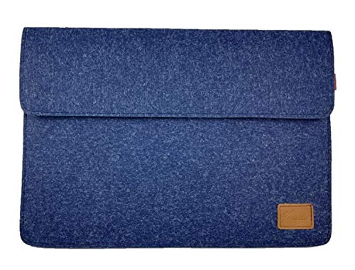 "Venetto 15,7-17,3 Zoll Laptop 17,3 Zoll Tasche Sleeve Hülle Ultrabook Schutzhülle für 17\"" Notebook, Filztasche für Acer Aspire, Asus, Hewlett-Packard HP, MSI, Medion, Lenovo (Blau Melange)"