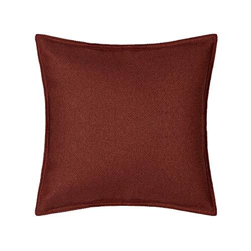 Federa cuscino Federa senza anima ricamata rossa 1, 2 pezzi copertura schienale geometrica decorazione divano 45 cm
