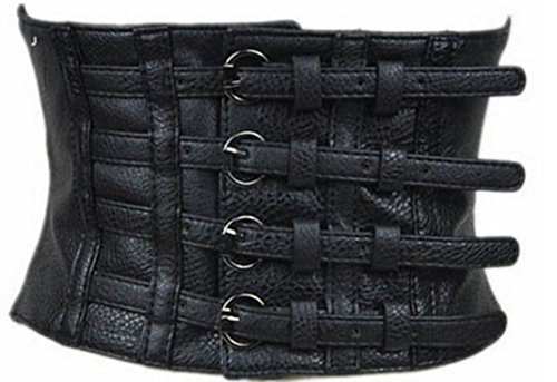 Alaani Gürtel Taillengürtel Stretchgürtel Taillencorsage schwarz, 66-80cm, Schwarz