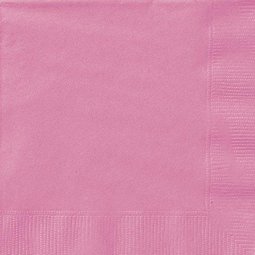 12,7 cm papieren servetten Servetten voor dranken. 20ct hot pink