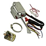 JDMSPEED New Chrome 12V Universal Street Hot Rod Turn Signal Switch with Flasher Replacement for Ford GM