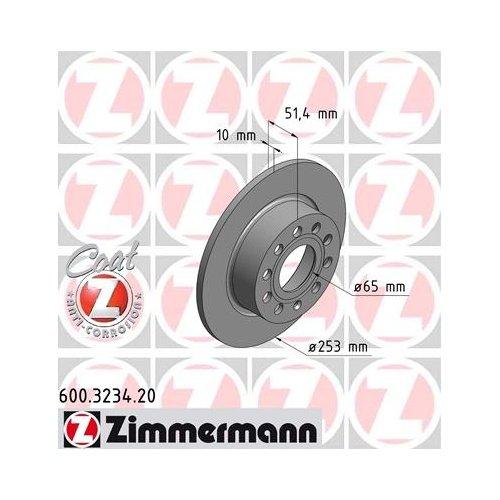 Zimmermann 600.3234.20 remschijf, achter, Coat Z