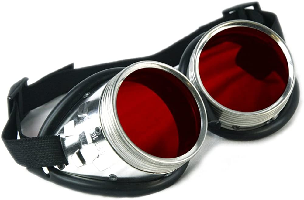 Pawstar Metal Frame Uber Goggles Cos Cheap mail order specialty store Colored Tint Outlet sale feature Lens Steampunk