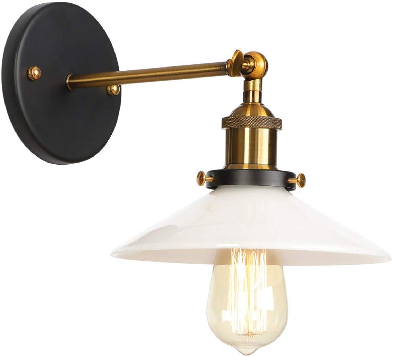 GONGFF Amerikanischen Stil Retro Einfache Wandleuchte Nordic Kreative Mode E27 Lampen Einstellbare Lenkkopf Dekoration Wohnzimmer Schlafzimmer Lichter Wandleuchte, Messing