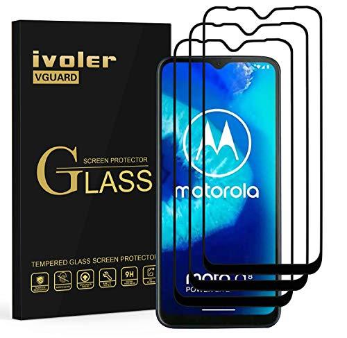 ivoler 3 Stücke Panzerglas Schutzfolie für Motorola Moto G8 Power Lite/Xiaomi Mi 10 Lite 5G, [Volle Bedeckung] Panzerglasfolie Folie Hartglas Gehärtetem Glas DisplayPanzerglas