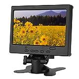 Monitor HDMI de 7 Pulgadas, 1920x1080 LCD TFT Monitor de computadora Portátil/Small Game Monitor para Raspberry Pi, Pantalla de automóvil, CCTV con Soporte HDMI/VGA/AV