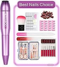 AUTENPOO Nail Drill, Electric Nail File for Acrylic Nails, Acrylic Nail Drill with Acrylic Nail Kit, Efile Nail Drill for Nail Polish, with Nail File Brush Clipper Set (purple)