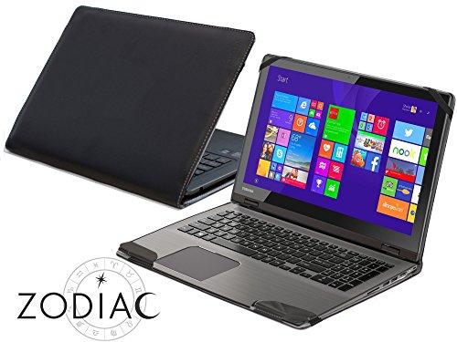 Navitech Schwarzes Leder Case Cover Tasche für das Toshiba Satellite Radius 15