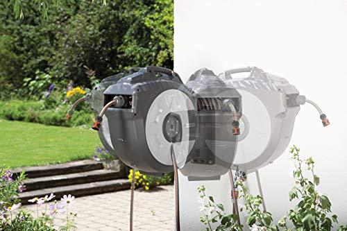 Gardena Wand-Schlauchbox 35 roll-up Automatic, Dunkelgrau, Türkis - 3