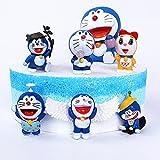 SZWL Mini Juego de Figuras - Caricatura Cake Topper, Fiesta de Cumpleaños DIY Decoración Suministros, Niños Mini Juguetes Baby Shower Fiesta de cumpleaños Pastel Decoración Suministros 6 Piezas