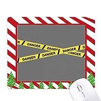 ロゴ危険線 ゴムクリスマスキャンディマウスパッド