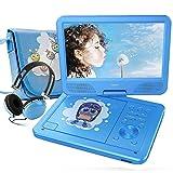 FUNAVO 9.5'' Tragbarer DVD-Player, Schwenkbaren Bildschirm, 4 Stunden Akku, Unterstützt...