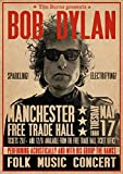 Bob Dylan Poster LIVE Manchester Free Trade Hall 1966