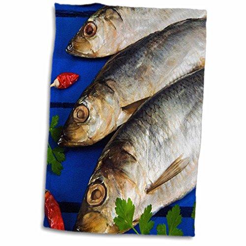 3D Rose Dried and Smoked Atlantic Herring-Cuisine-Li11 Nto0029-Nico Tondini Towel, 15' x 22'