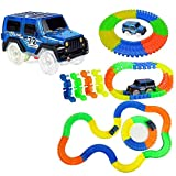 Planet of Toys Magic Car Track Set | Flexible Tracks 220-Piece 11 Ft