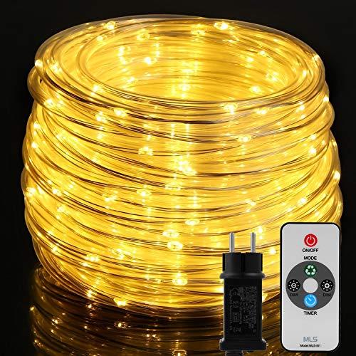 300 LED Lichterschlauch, OxyLED 20M Lichtschlauch IP65 Wasserfest, Lichterkette Strombetrieben mit EU-Stecker für Innen Außen Garten Weihnachten Fest Party Hochzeit Deko(Warmweiß)