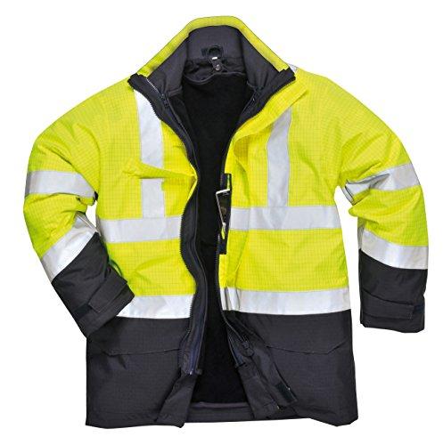 PORTWEST S779 - Bizflame Regen Warnschutz Multi-Norm Jacke, 1 Stück, XL, gelb, S779YNRXL