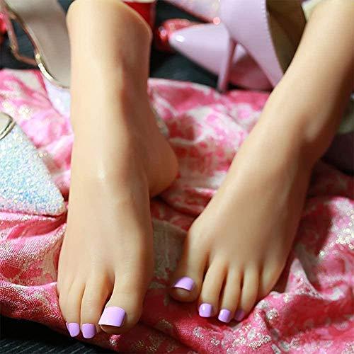 ZHJING Mode Weibliche Füße Die Farbe der elastische Haut Beine Shooting Zeigen Props Lecture Modell Feet Artwork Schöne Beine 36 Yards (Color : Leftfoot)