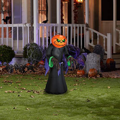Airblown Inflatable Gemmy Lights Pumpkin Reaper 3.5'