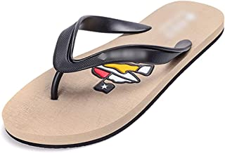 LUKEEXIN Men's Cool Drag Clips Casual Non-Slip Rubber Beach Flip Flops