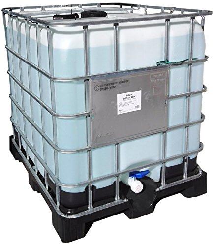 Agua destilada. Envase de 1000 litros.