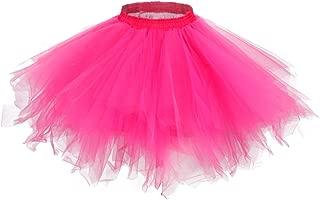 MsJune Women's 1950s Vintage Petticoats Crinolines Bubble Tutu Dance Half Slip Skirt