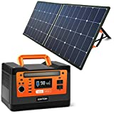 AIMTOM PowerPal Raptor 540Wh Portable Solar Generator + SolarPal 100W Foldable Solar Panel