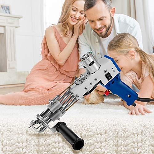 S SMAUTOP Pistola eléctrica para tejer alfombras, máquina profesional para tejer alfombras, máquina manual para tejer, herramientas para hacer alfombras, 165 r/seg(pila cortada)