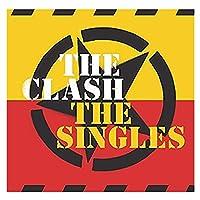 Xianrenge The Clash(The Singles)アルバムカバーポスターウォールアートプリントキャンバスリビングルームホームベッドルームデコレーション-24X24インチX1フレームレス