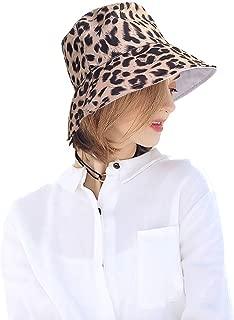Reversible Leopard Bucket Hats Women Fashion Floppy Sun Cap Packable Fisherman Hat