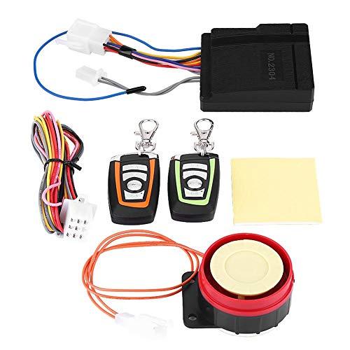 Qiilu Kit de Système d'alarme de Sécurité pour Moto avec Télécommande, 125 db Alarme de Sécurité Anti-vol