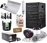 Hydroponics Complete Grow Room Tent Kit - Twin Speed Fan Filter Kit - Dual Spectrum Light Kit 600w - 120 x 120...