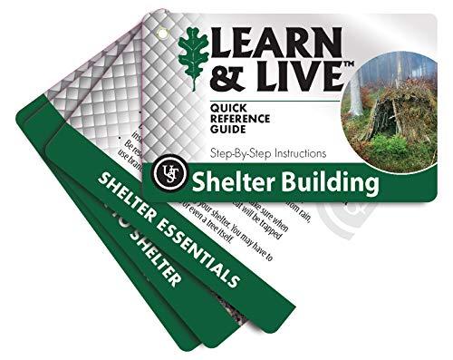 UST Conjunto de cartas educativas Learning & Live, construção de abrigo