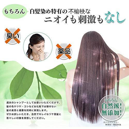 ソシア(SOCIA)グローリン・ワンクロス[ブラック:100ml/約1ヵ月分]自然に染まる白髪染め無添加カラーリングシャンプー