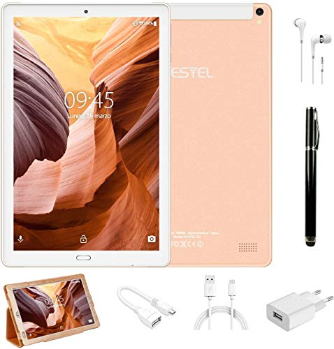 tablet dual os Tablet PC 10.1 Pollici 4G LTE Dual SIM /WiFi tablet Android 8.0 con 3GB di RAM e 32GB ROM Batteria 8000mAh- Oro
