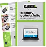 dipos I 2X Schutzfolie matt kompatibel mit HP Pavilion x2 10,1 Zoll Folie Bildschirmschutzfolie