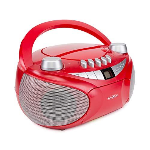 Reflexion RCR4655 Analógica 64W Rojo – Radio CD