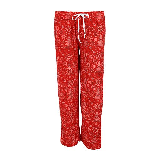 DM Merchandising Inc. Hello Mello Holiday Lounge-Hose M/L rot mit Muster