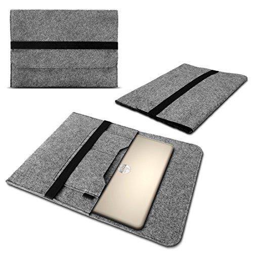 UC-Express HP Omen 17 Tasche Sleeve Hülle Notebook Cover Case Laptop Filz Schutzhülle Grau