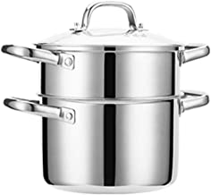 ZYSWP Stainless Steel Household Thickened Mini Small Thickened Gas Small Soup Pot Steamer