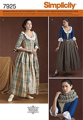 Simplicity 7925 Historisches Kleid, R5 (40-48)