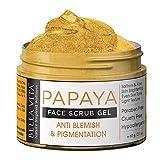 Glamorous Hub Bella Vita Scrub viso alla papaya biologica per la rimozione della luminosità, della pigmentazione e delle imperfezioni della pelle, 60 g