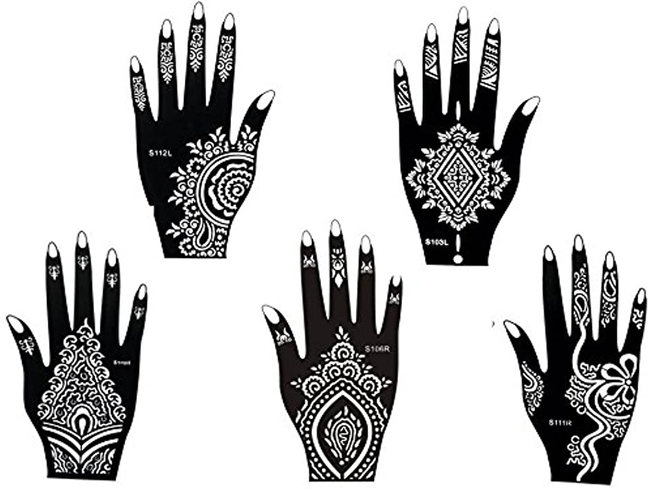Tattoo Stencil Template Set of 5 different Sheets Henna Designs Suitable for Hand Henna 5