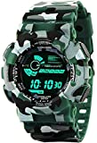 Emartos Fashion Digital Men's & Boy's Watch (Black Dial Green Colored Strap)
