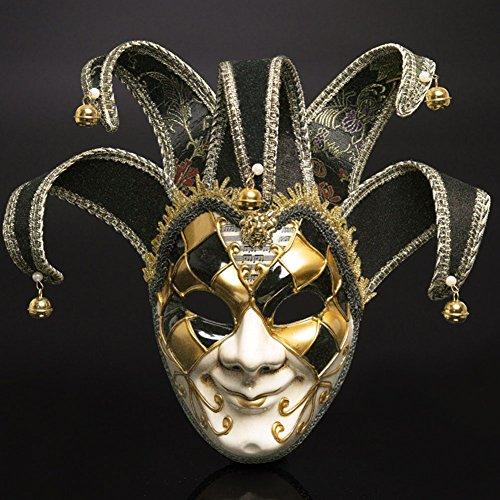 Máscara veneciana romana griega, máscara de máscara, disfraz de Halloween, bola para fiesta, decoración de suministros máscara con personalidad negro