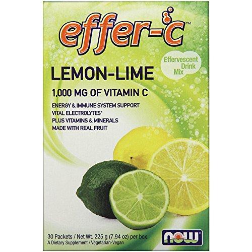NOW, Effer-C Lemon Lime 30pkt