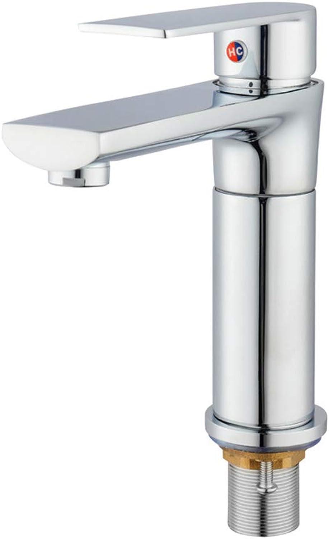 Xinsheng Bathroom Sink Mixer Tap Hot and Cold Bathroom Sink Mixer Tap Modern Solid Brass Single Handle Washroom Basin Mixer Taps