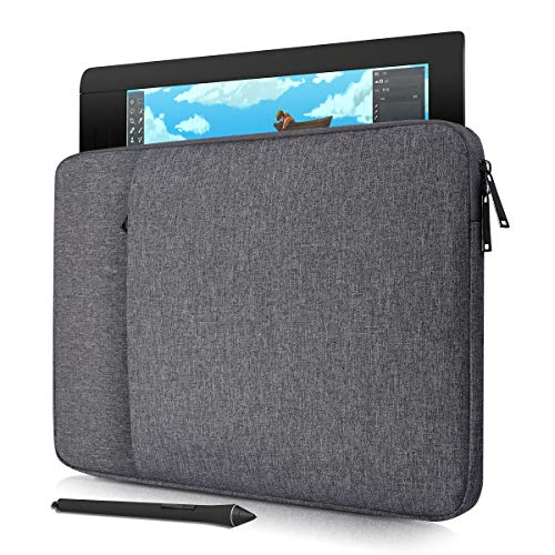 Drawing Tablet Sleeve Protective Bag for XP-Pen Deco 01/Star 06, UGEE M708, XP-Pen Artist12 Pro 11.6 Inch, Huion H610 Pro V2/ HS610, VEIKK A30 A50, Wacom Intuos Pro Case(Space Grey)